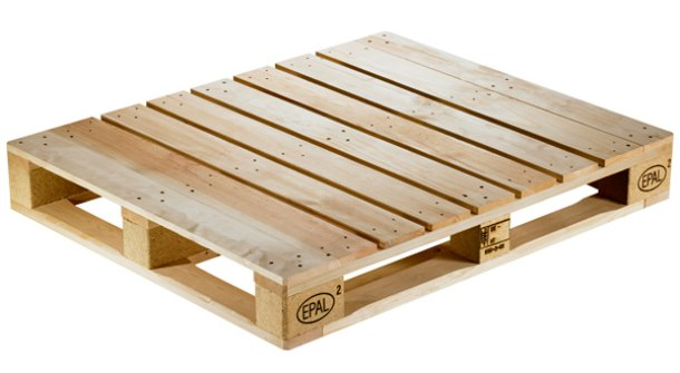standard euro wooden pallet with EPAL mark