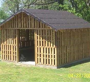 How To Build A Shed Using Pallets Associated Pallets