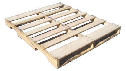 A used wooden pallet